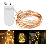 XERGY 20 LED 2 Meter Starry String Lights Battery Powered Included (Warm White) -Pack of 1, Christmas NYE Decoration Lights Festival ladi Rice Light