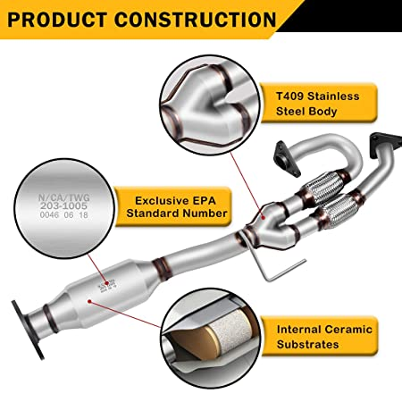 Amazon.com: Catalytic Converter for 03-07 Nissan Murano 3.5L SUV Direct-Fit Stainless Steel High Flow Cat (EPA Compliant): Automotive
