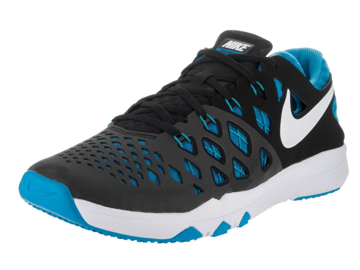 NIKE Men's Train Speed 4 Running Shoe B01DLEQA0U 10.5 D(M) US|Black/Blue Glow/White