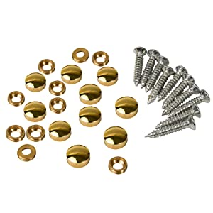 10PCS Mirror Screws 10mm Dia,Brass Mirror Screws Cap Cover Nails Fasteners Golden for Decorative Mirror, Sign/Advertising Hardware, Nails, Construction
