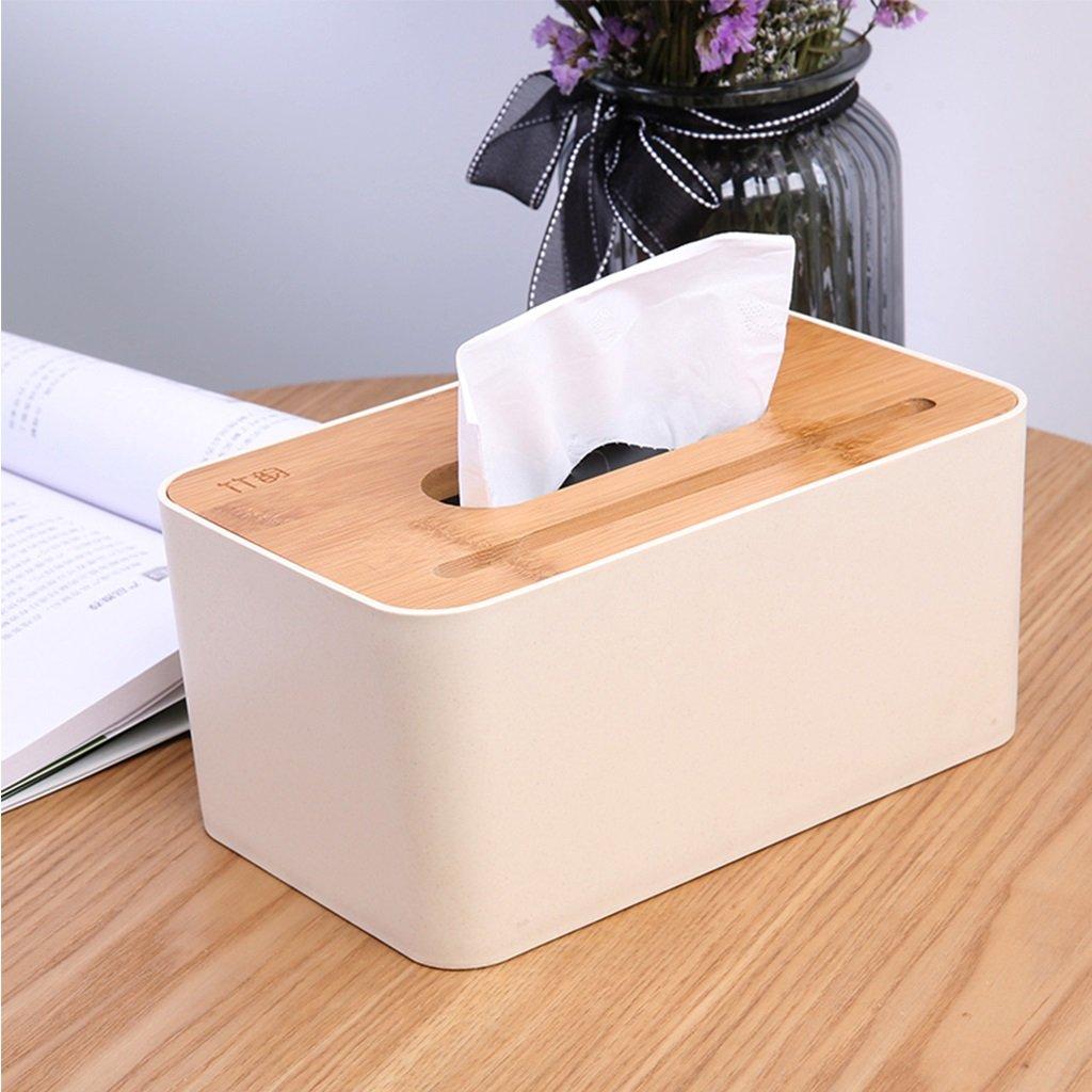 PRX Creative Nordic simple tissue box home multi-function remote control storage box living room coffee table napkin paper box bamboo bedroom (Style : C)
