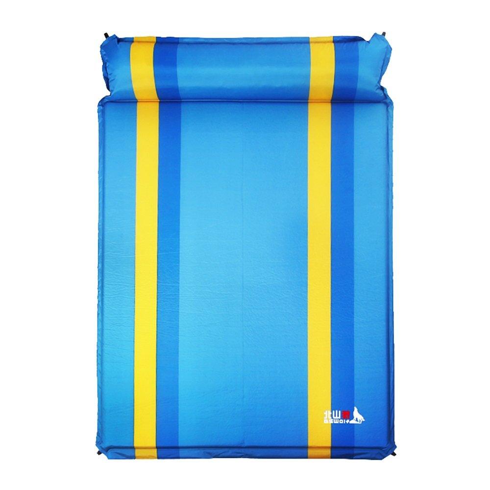 湿気防止パッドポータブルアウトドアテント自動インフレータブルマットレスMattress Sleeping Pad Camping Mat B07FYSWQWH ブルー