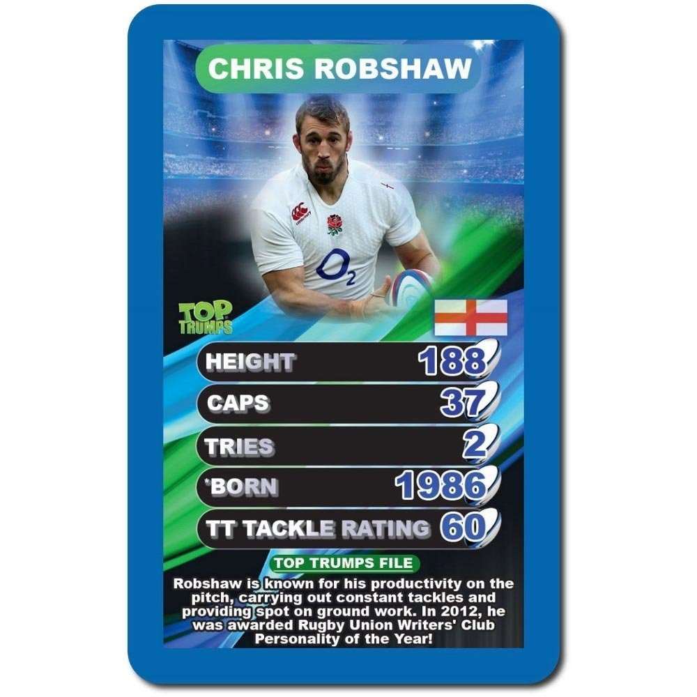 Top Trumps World Rugby Stars Card Game 2018 Edition