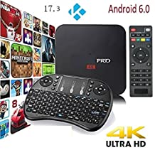 [New Version] TS v17.4 Krypton Pro Android 6.0 TV BOX UHD 4K /64Bit Quad Core 1+8GB+ Mini Wireless Keyboard