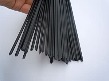 PE Plastic Welding Rods,1 Meter for Plastic Welder gun//Hot Air Gun,Black,5pcs