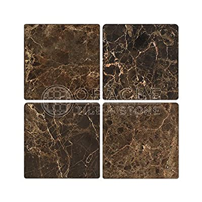 Emperador Dark Spanish Marble 6 X 6 Field Tile, Tumbled