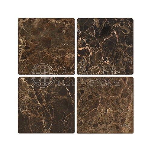 (Emperador Dark Spanish Marble 6 X 6 Field Tile, Tumbled)