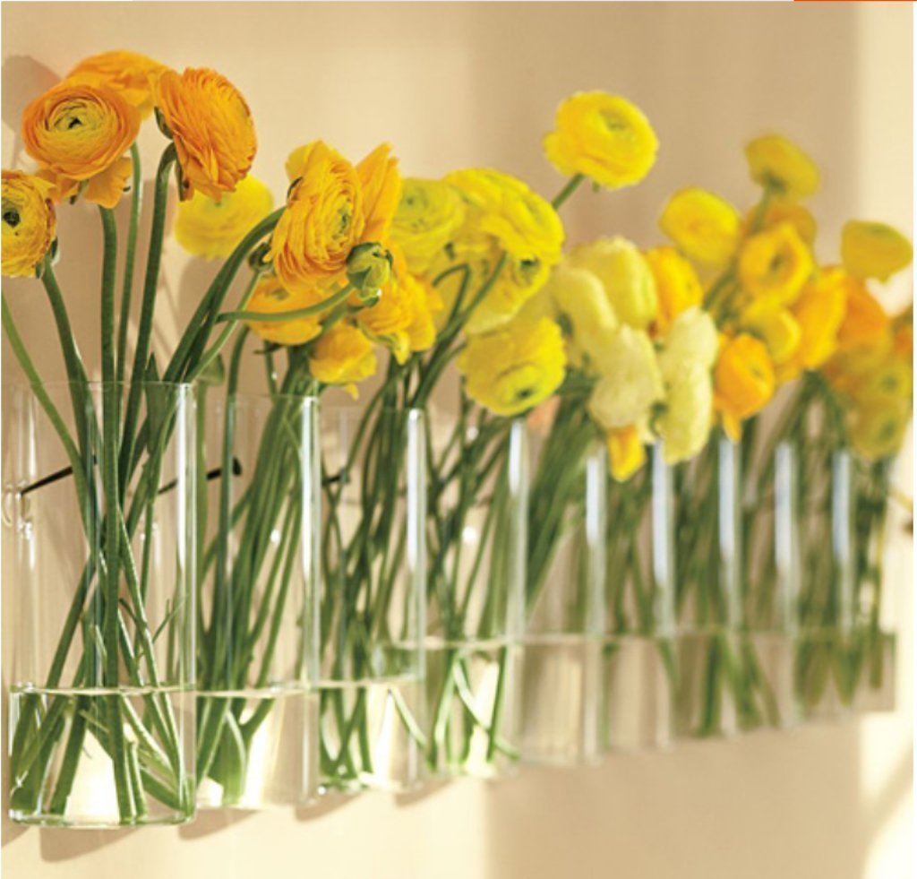 Amazon.com: MagicW Bottle Glass Vase Wall Hanging Decorations Flower ...