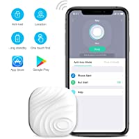 Wonbo Anti-Lost Bluetooth Tracking Locator for Keys, Phones, Wallets, Bags with APP Control Compatible with iOS & Android (White)