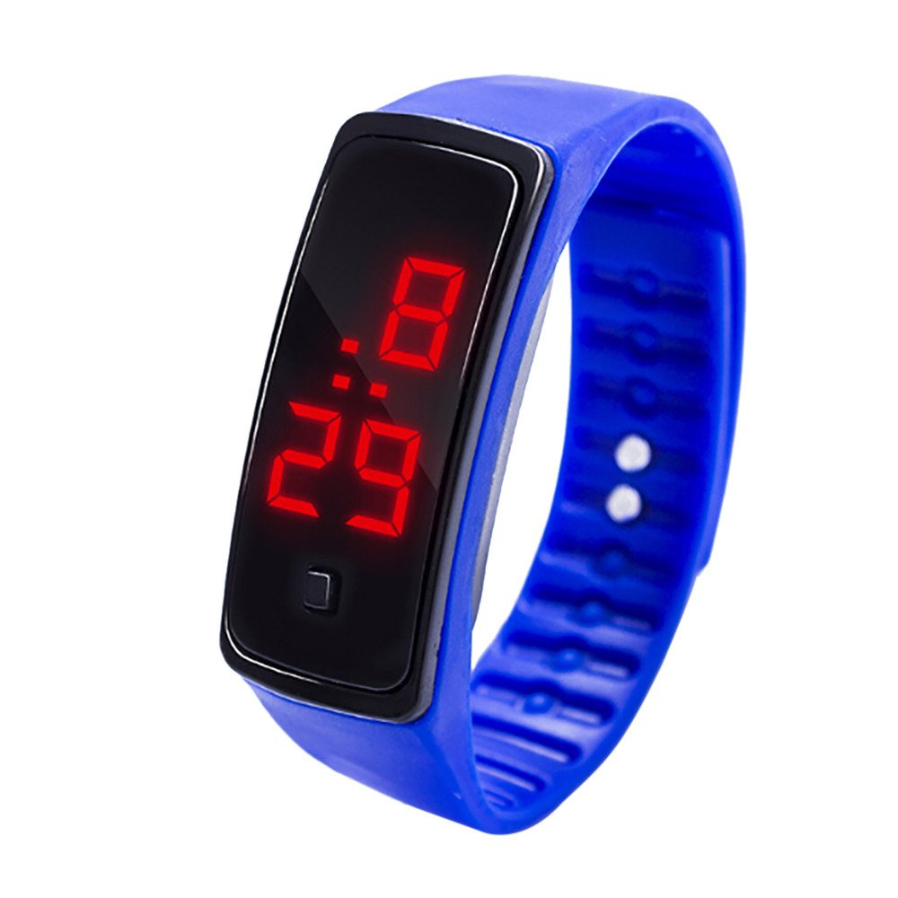 NRUTUP LED Digital Display Bracelet Watch Children's Students Silica Gel Sports Watch Hot Sales(Blue,Free Size)