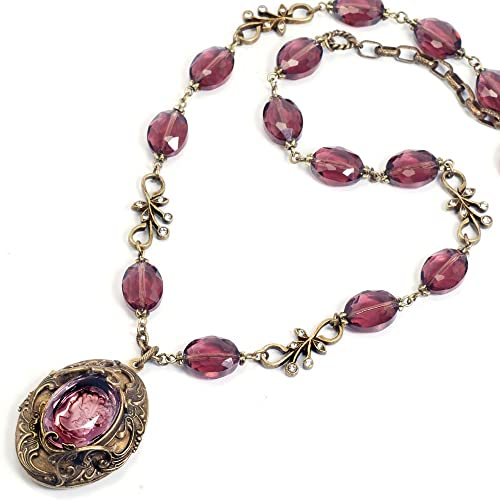 Victorian Costume Jewelry to Wear with Your Dress Victorian Necklace                                                                       Sweet Romance Victorian Intaglio Locket Necklace                               $105.00 AT vintagedancer.com