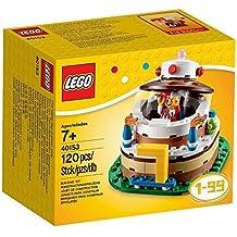 Lego lego 40153 Birthday Decoration Cake Set Overseas Limited cake set original block-type key chain with 120 pieces [parallel import goods]