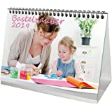 Premium Tischkalender / Kalender 2019 · DIN A5 · Bastelzauber weiß · Kalender zum Selbstgestalten · Bastelkalender · Fotokalender · Basteln · Edition Seelenzauber