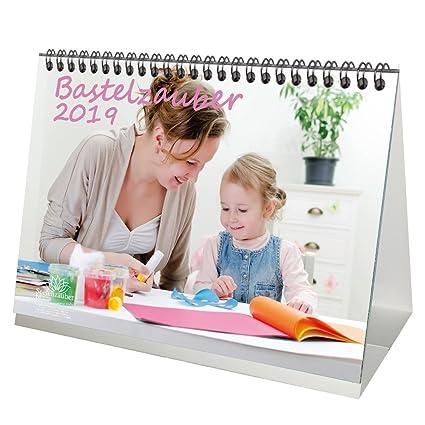 Premium Tischkalender/Kalender 2019 · DIN A5 · Bastelzauber weiß · Kalender zum Selbstgestalten · Bastelkalender · Fotokalender · Basteln · Edition Seelenzauber