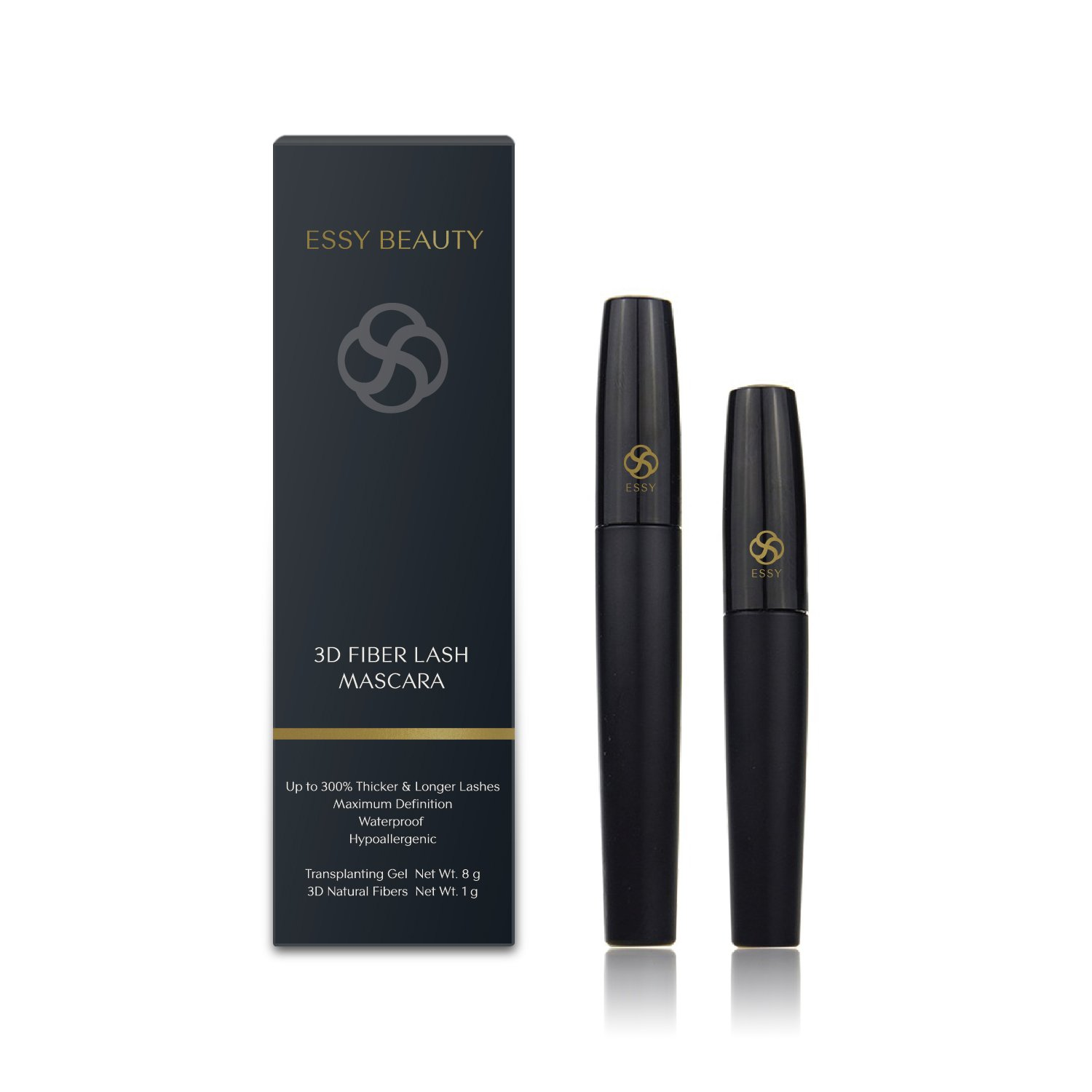 4ac433389f0 Amazon.com : 3D Fiber Lashes Mascara, Waterproof & Long Lasting, 3 Steps  Easy to Apply for Thickening & Lengthening Lashes : Beauty