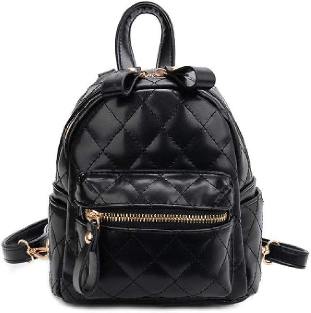 VICTOE Mochila pequeña retro de las mujeres de moda de color sólido mini mochila de la escuela mochila casual simple mochila de viaje