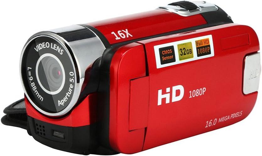 Black Video Camcorder HD 1080P Handheld Digital Camera 16X Digital Zoom