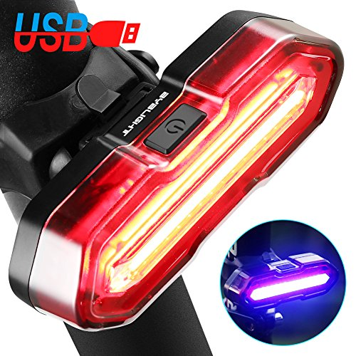 BYBLIGHT Rear Bike Light - USB Rechargeable, 5 Light Modes, Super Bright...