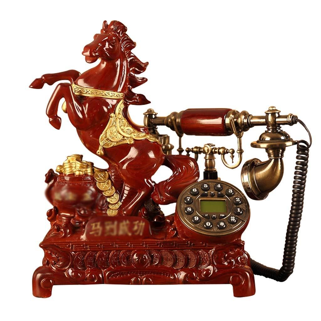 ホーム固定電話、レトロなビンテージアンティーク有線固定の自宅の電話やオフィスの装飾、さまざまなスタイルで利用可能なさまざまな色 (色 : Wood-like, 三 : C) B07JWLPVJG Wood-like C