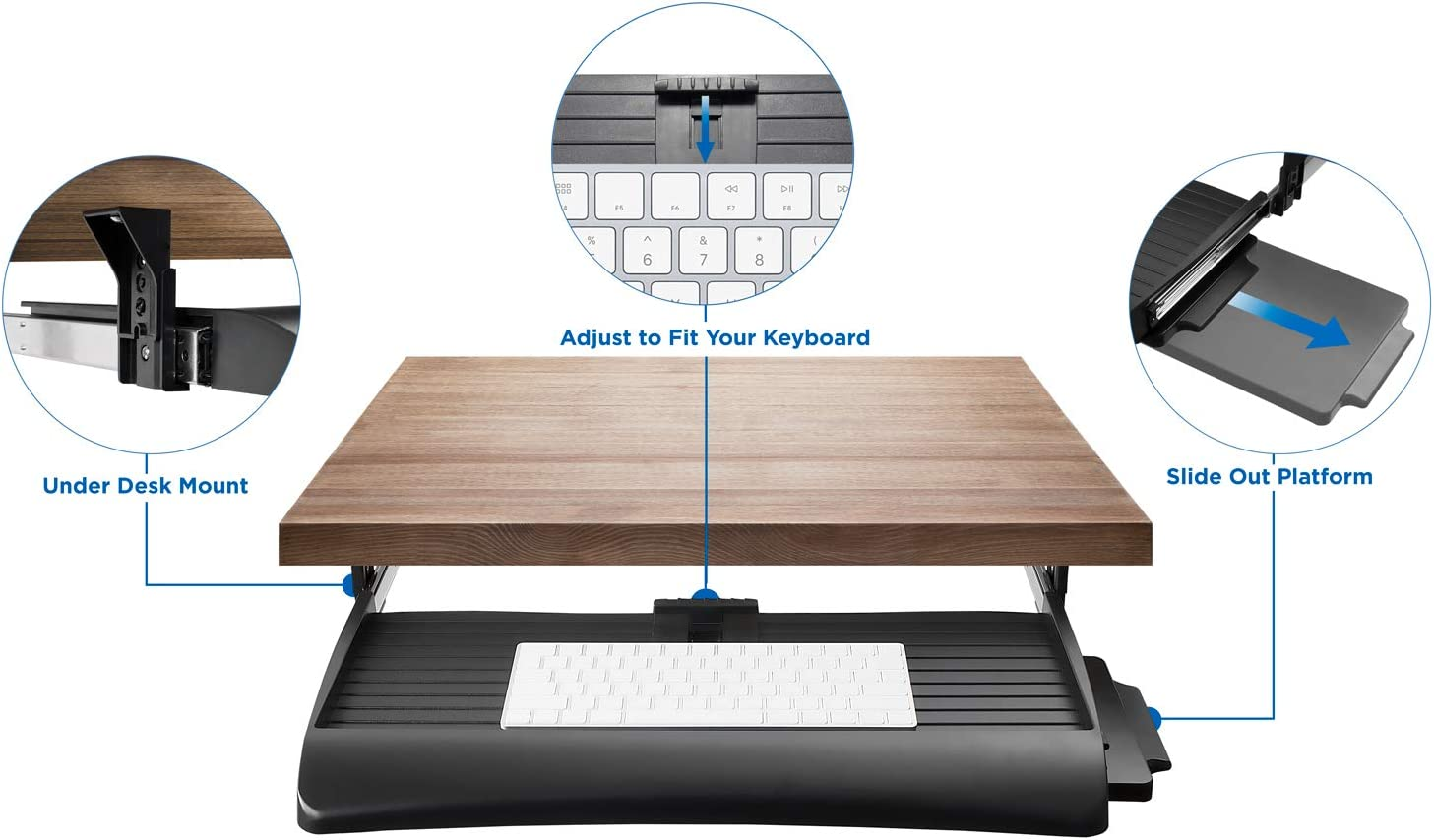 Under Desk Computer Keyboard and Mouse Drawer Mount-It