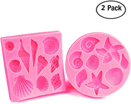 Pink mermaid tail silicone mold fondant baking tool chocolate-cake/_decoration Su