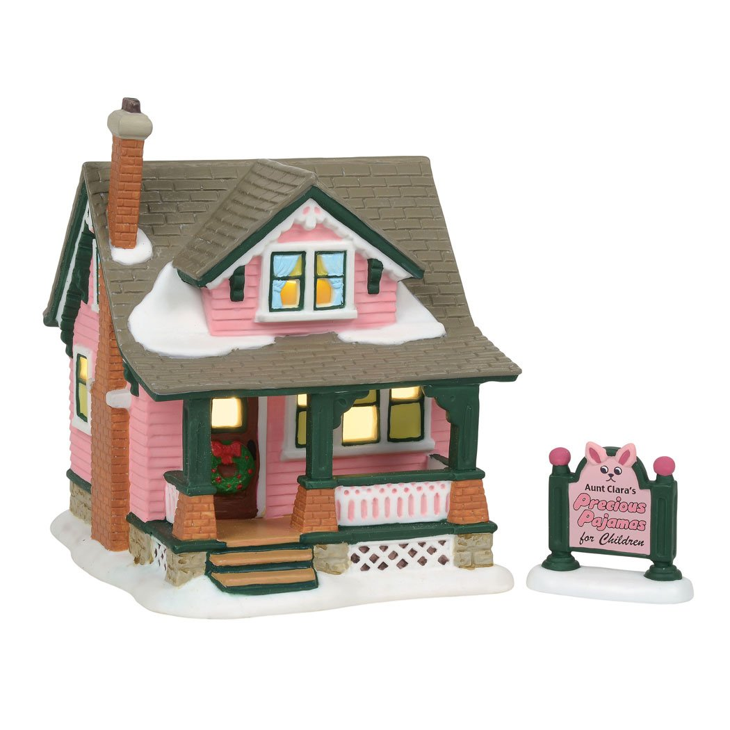 Department 56 Christmas Story Village Aunt Clara's House Lit Building, Multicolor (6001185)