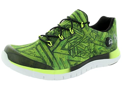 b86d575d12c Reebok Men s Zpump Fusion Geo Solar Yellow Black White Running Shoe 8.5