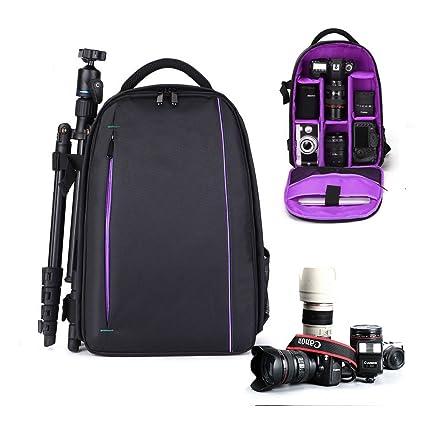 iVotre 2017 Professional DSLR SLR Camera Backpack For Nikon Canon Laptop Rucksack with Tripod Holder for