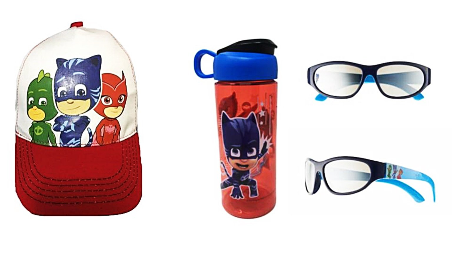 Custom Bundled Products PJMasks Baseball Cap Sunglasses + BPA Free Water Bottle by Custom Bundled Products