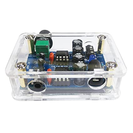 KKmoon 47 Amp DIY NE5532 Hi-Fi Headphone Amplifier Kit with Transparent  Housing DC9V-18V