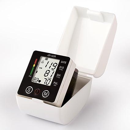 Toprime- 003 Tensiómetro de Muñeca Digital Electrónico Monitor de Presión Arterial con Detección del Ritmo Cardíaco Hipertensión: Amazon.es: Deportes y aire ...