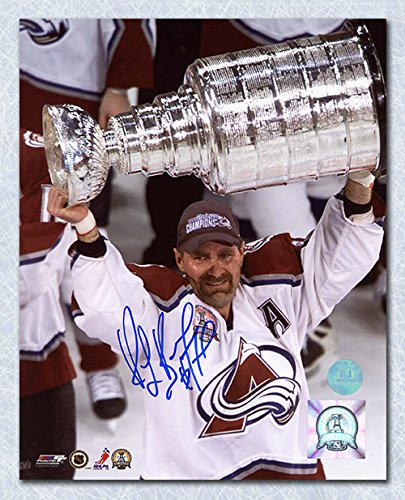 2001 World Cup Hockey - AJ Sports World Ray Bourque Colorado Avalanche Autographed 2001 Stanley Cup 8x10 Photo