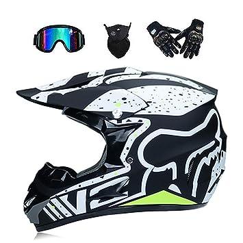ZHONGST Motocross Cascos para Hombre Y Mujer Bicicletas De Montaña Cascos Integrales Cascos Pequeños,2