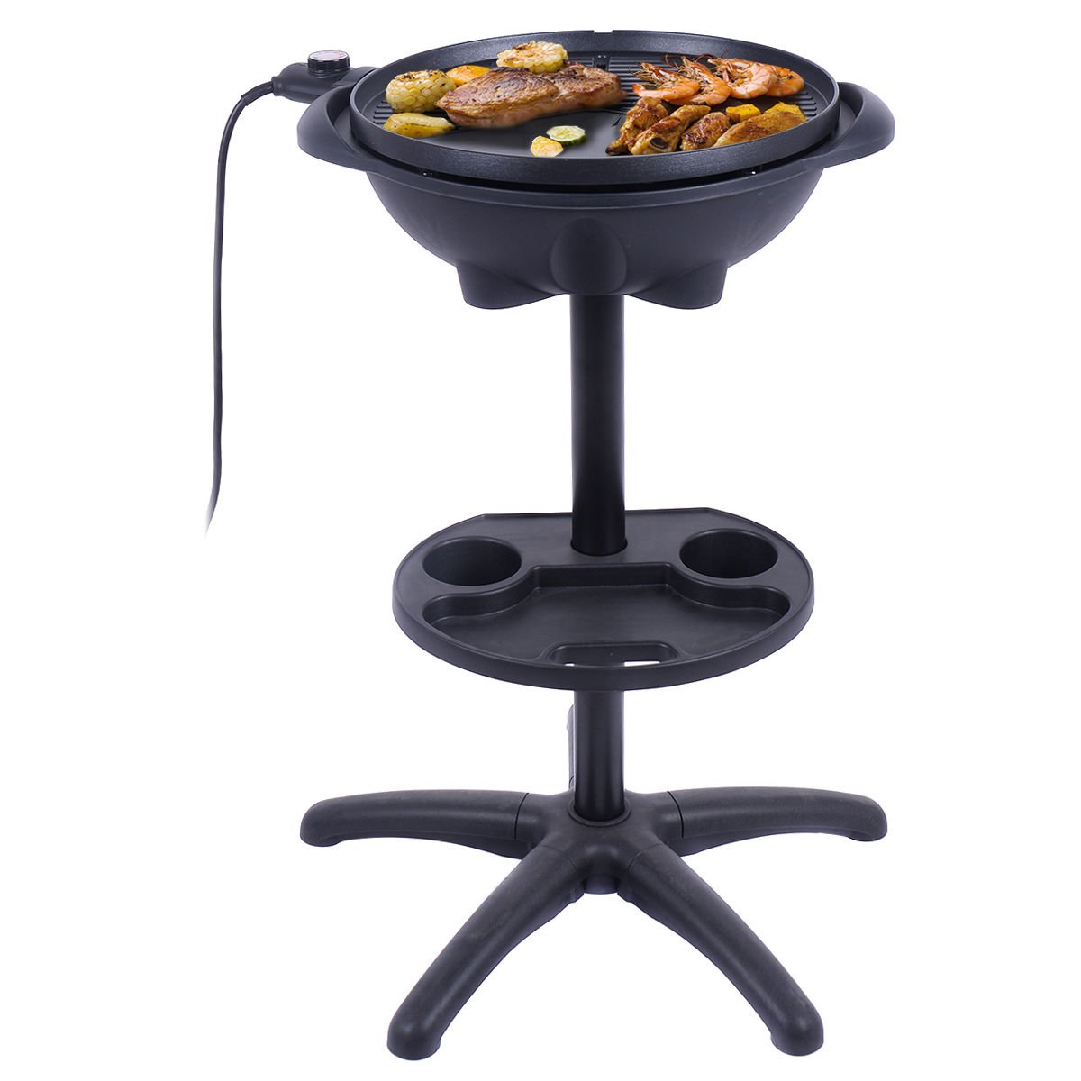 New Electric BBQ Grill 1350W Non-stick 4 Temperature Setting Outdoor Garden Camping by totoshop (Image #1)