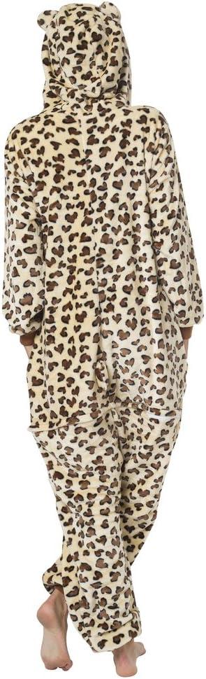 viele verschiedene Tiere Leopard Kost/üm-Anzug Onesie//Jumpsuit Einteiler Body f/ür Erwachsene Damen Herren als Pyjama oder Schlafanzug Unisex Katara 1744