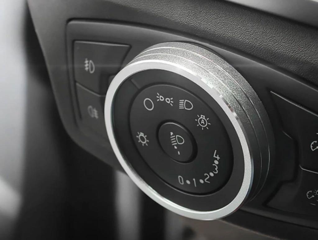 Emblem Trading Emblem Lichtschalter Alu Ring Silber Autozubehö r KK L.L.C