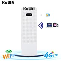 KuWFi Unlocked Pocket 4G LTE USB Modem Router Mobile WiFi Router Network Hotspot 3G 4G WiFi Modem Router with SIM Card…