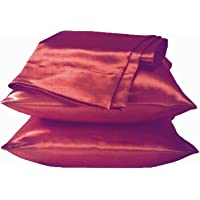 Satin Pillowcase for Hair and Skin, 2-Pack - Standard Size Pillow Cases - Satin Pillow Covers with Envelope Closure (2…