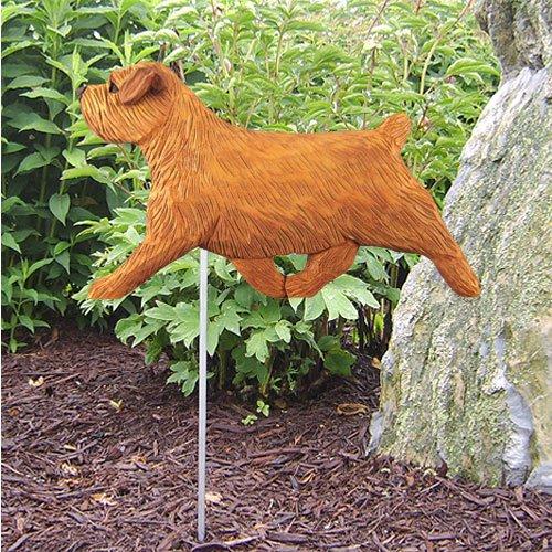 (Michael Park RED Norfolk Terrier Garden Stake by)