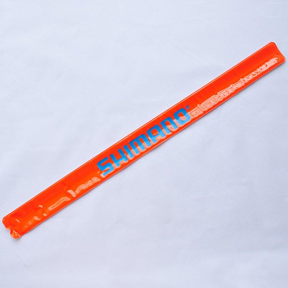 オレンジの軽量安全反射ストラップ1組 ブルーシマノ 夜間の時間表示 ジョギング ウォーキング バイキング スナップオン メカニック 長さ15.5インチ 幅1.1インチ   B017224A54