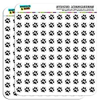 "Paw Print Pet Dog Cat 1/2"" (0.5"") Planner Calendar Scrapbooking Crafting Stickers"