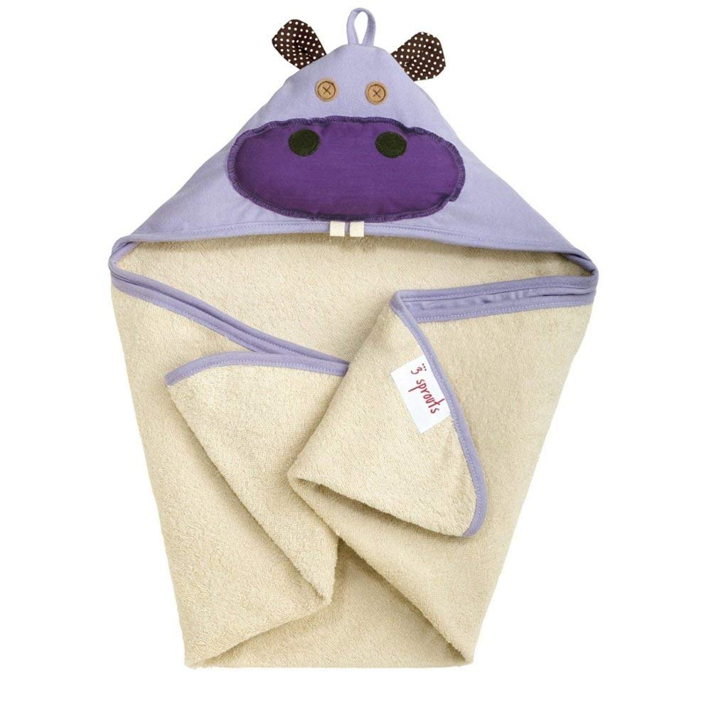 Yellow Monkey 3 Sprouts Hooded Towel