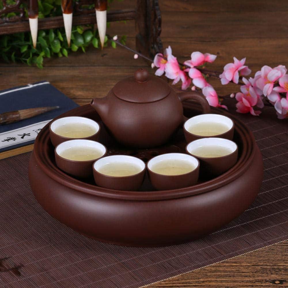 Chinese 8PCS Tea Set Black Tea Andteapot Clay Handmade,A
