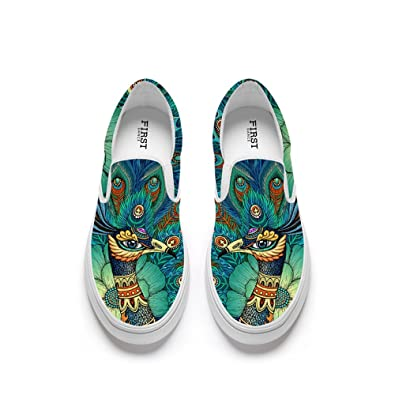 45e10e2d7aa FIRST DANCE Funny Animal Printed Shoes Women Loafers Flats Fashion Slip on  Shoes for Women Lion Fox Shoe