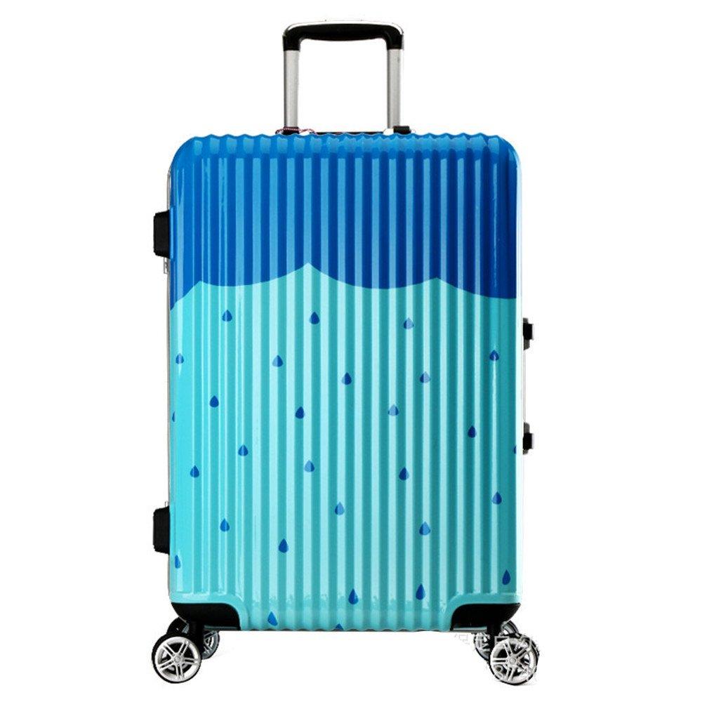 プレミアム回転2色雨滴20インチ24インチスーツケーススーツケースガールシリーズスーツケース 耐摩耗輸送ボックス (色 : 緑) B07RWQNQG8 緑
