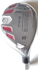 New Integra I-Drive Hybrid Golf Club #8-34° Right-Handed with Graphite Shaft, U Pick Flex