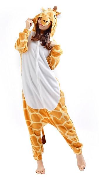 Cosplay Animales Pijamas Mujer Invierno Novedad Navidad Traje Disfraz Adulto Jirafa