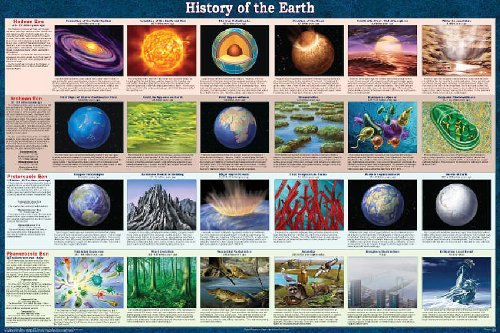 History of the Earth Laminated Educational Science Teacher Classroom Chart Print Poster