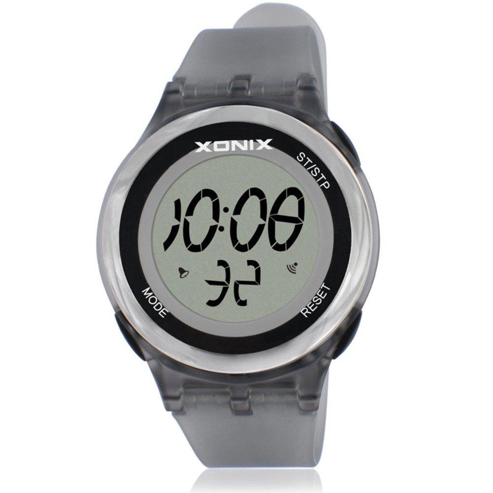 Girl Sport digital watch,30m waterproof Chronograph stopwatch Led Week Multifunction Thin Personalize-B