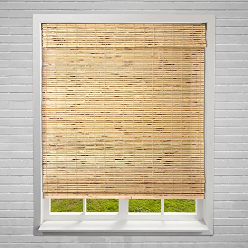 Calyx interiors bamboo roman window treatment shade 28 w for Smart window shades